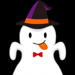商用フリーイラスト_無料_10月_ハロウィン_おばけ_コスプレ_halloween_Ghost_上半身