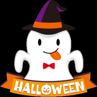商用フリーイラスト_無料_10月_ハロウィン_おばけ_コスプレ_halloween_Ghost_オーナメント