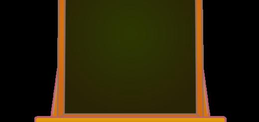 商用フリーイラスト_芸術の秋_イーゼル_落ち葉_キャンバス縦_文字_autumn_黒板