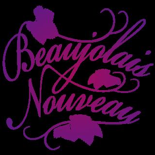 商用フリーイラスト_11月_ボジョレーヌーボー_文字_紫_Beaujolais Nouveau