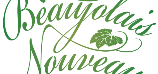 商用フリーイラスト_11月_ボジョレーヌーボー_文字_緑_Beaujolais Nouveau