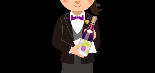 商用フリーイラスト無料_11月_ボジョレーヌーボー_Beaujolais Nouveau_ワイン_女性ソムリエ02