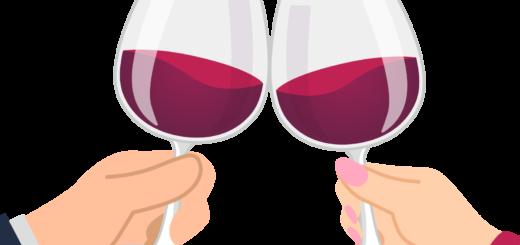 商用フリーイラスト無料_11月_ボジョレーヌーボー_ワイン_赤_Beaujolais Nouveau_乾杯