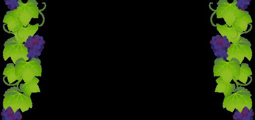 商用フリーイラスト無料_11月_ボジョレーヌーボ_ワイン_赤_Beaujolais Nouveau_フレーム_ぶどう_pop03