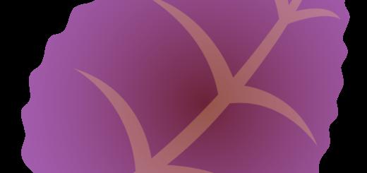 商用フリー・無料イラスト_秋_落ち葉_ぎざぎざ_枯葉_紫色_Fallen leaves