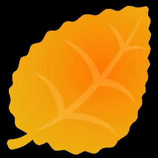 商用フリー・無料イラスト_秋_落ち葉_ぎざぎざ_枯葉_黄色_Fallen leaves