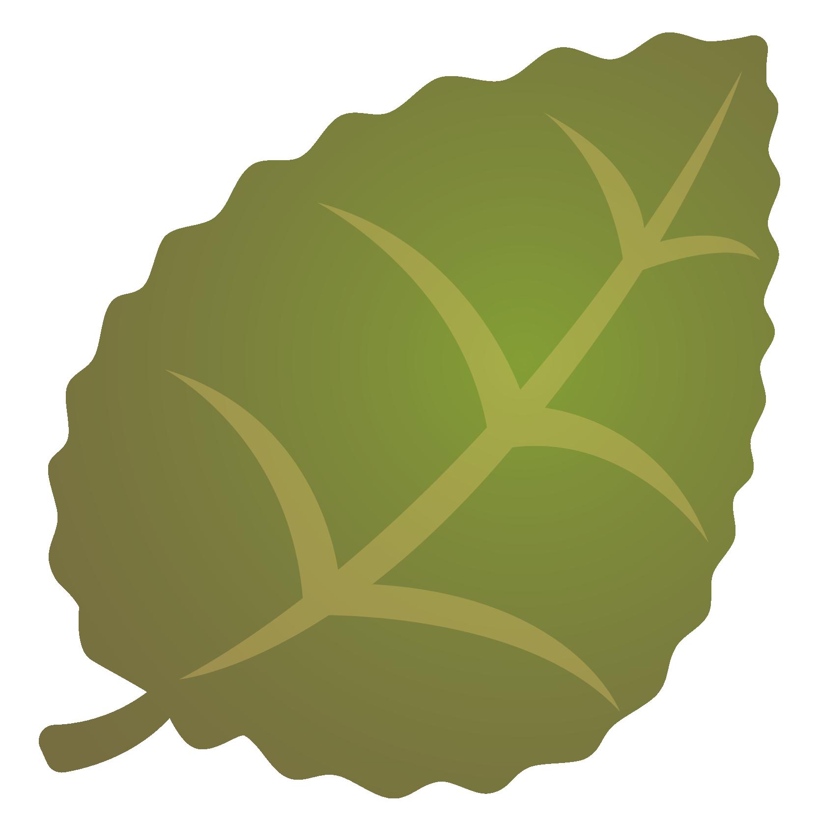 商用フリー・無料イラスト_秋_落ち葉_ぎざぎざ_枯葉_緑色_Fallen leaves