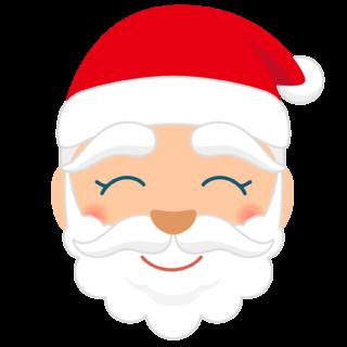 商用フリー・無料イラスト_クリスマス_サンタクロース_顔_にっこり