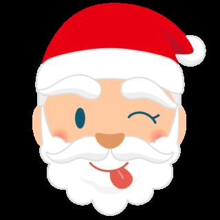 商用フリー・無料イラスト_クリスマス_サンタクロース_顔_てへぺろ