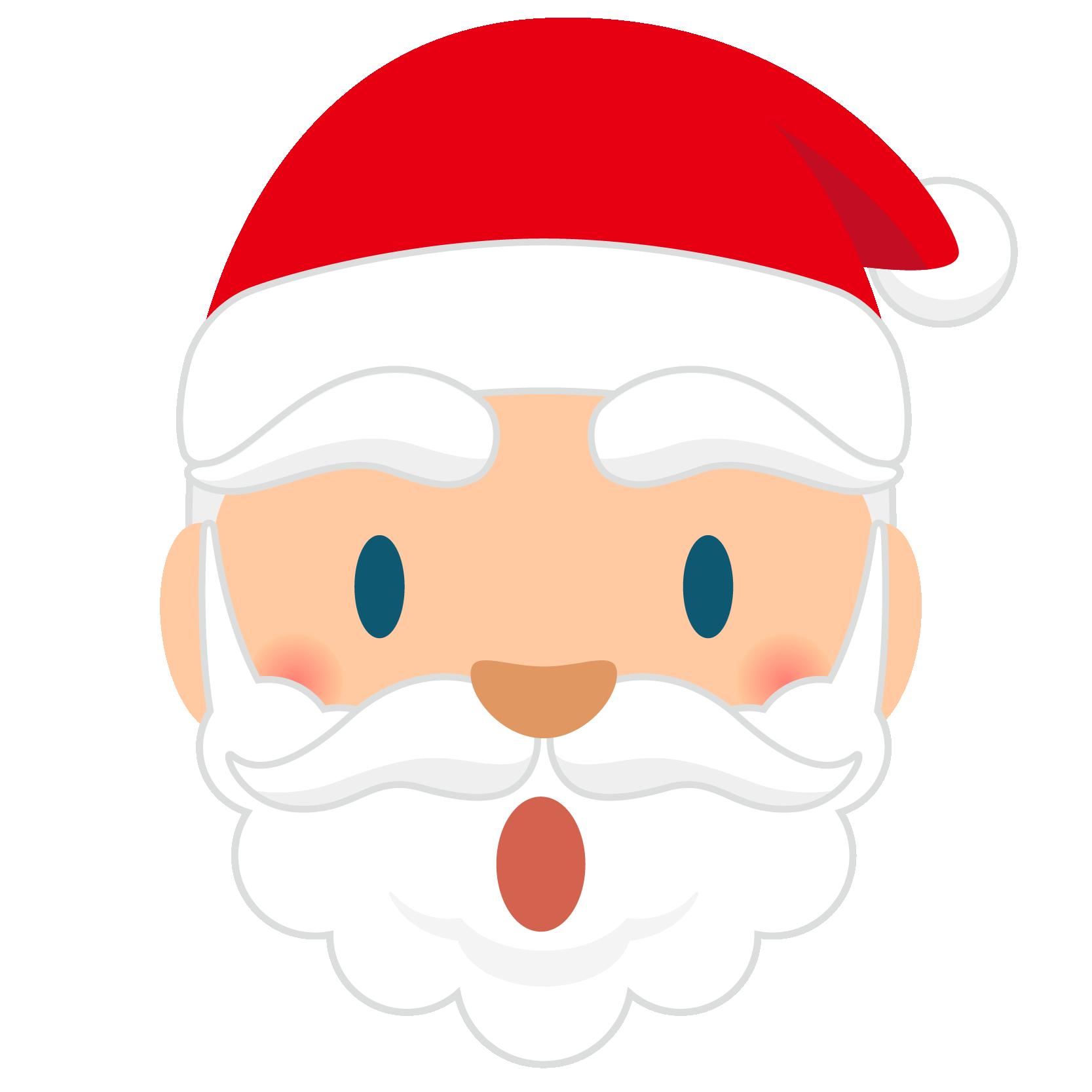 商用フリー・無料イラスト_クリスマス_サンタクロース_顔_びっくり