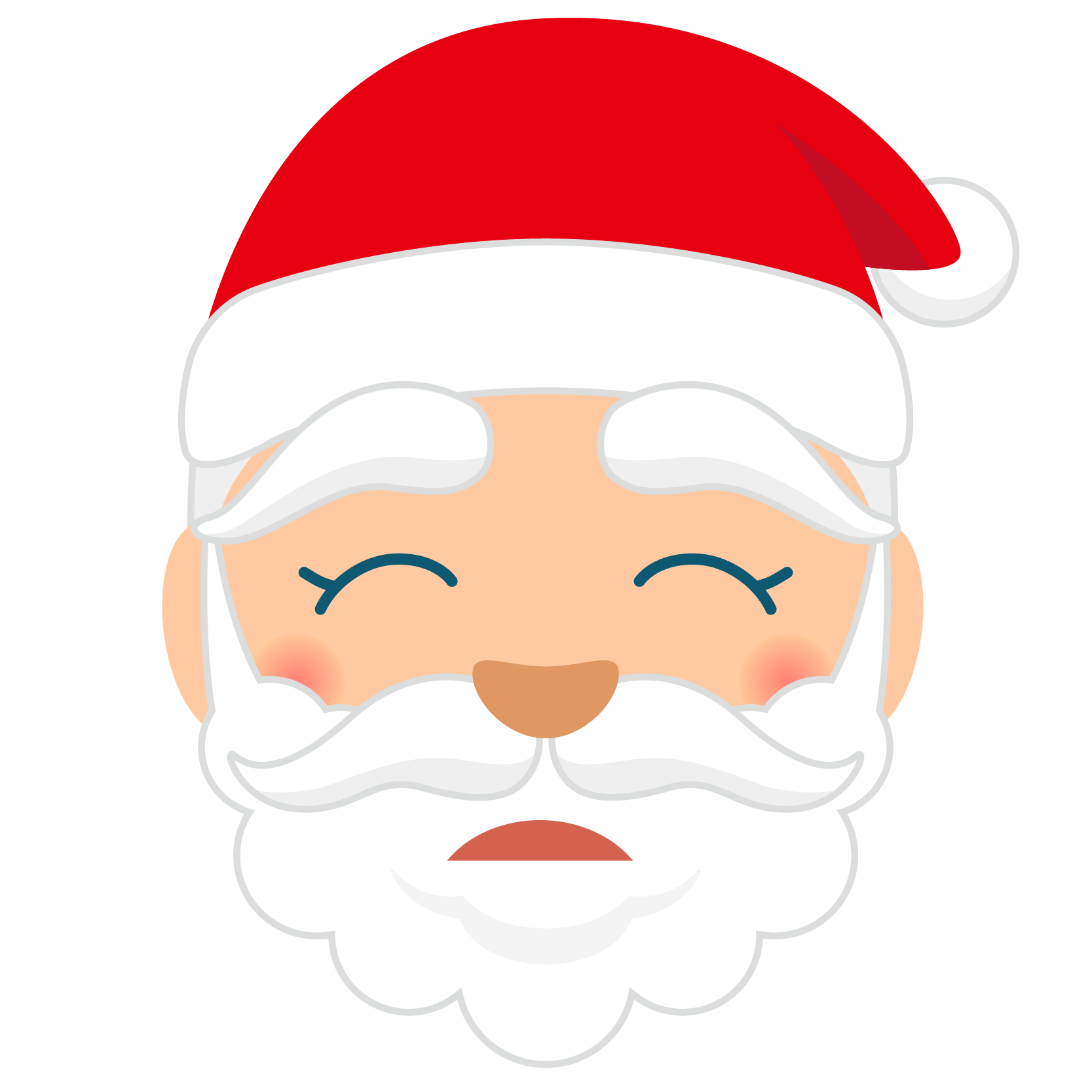 商用フリー・無料イラスト_クリスマス_サンタクロース_顔_とほほ