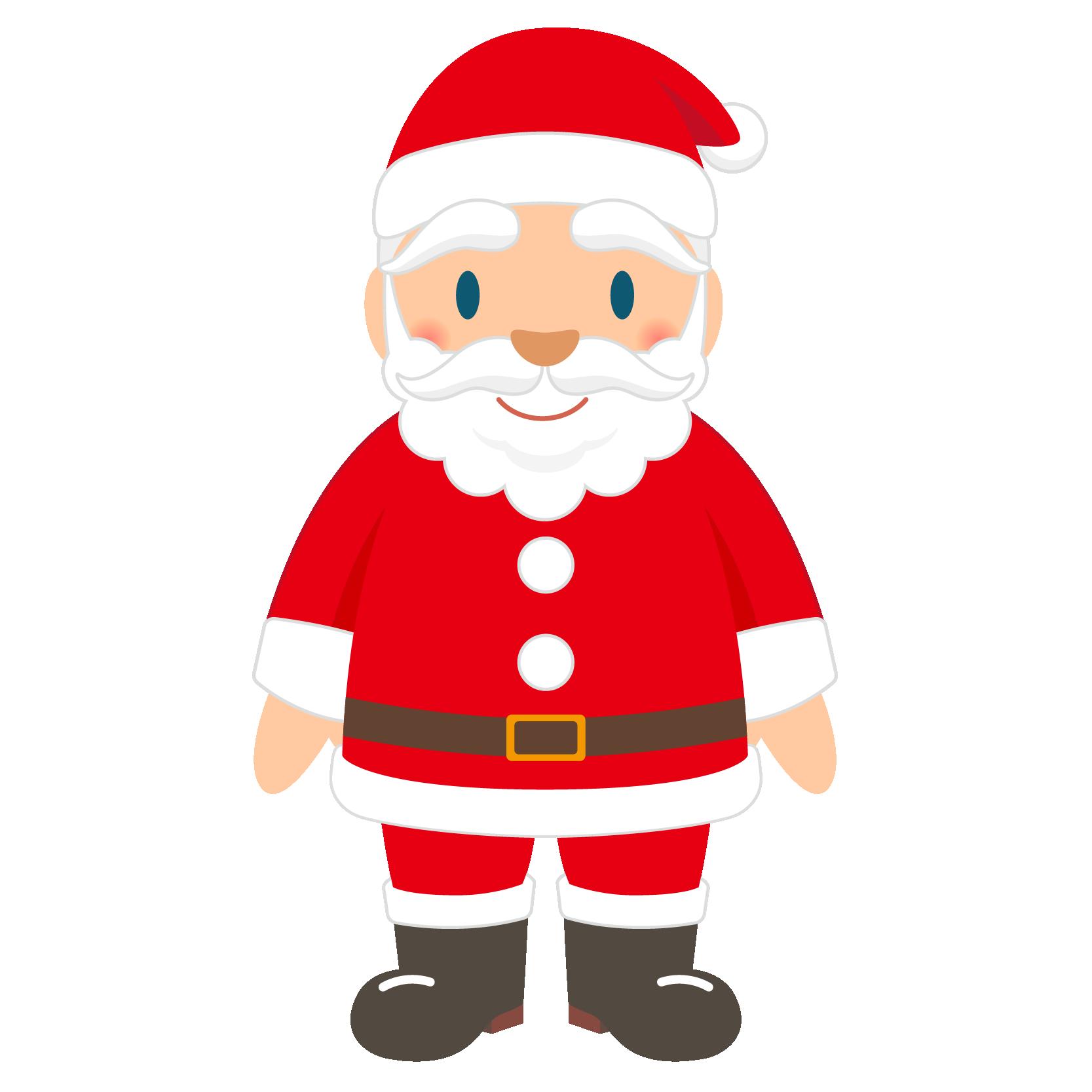 商用フリー・無料イラスト_クリスマス_サンタクロース(Santa Claus)_全身