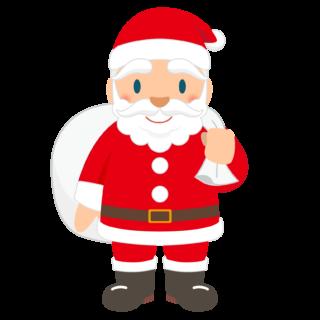 商用フリー・無料イラスト_クリスマス_サンタクロース(Santa Claus)_全身_袋
