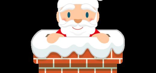 商用フリー・無料イラスト_クリスマス_サンタクロース(Santa Claus)_煙突(えんとつ)01