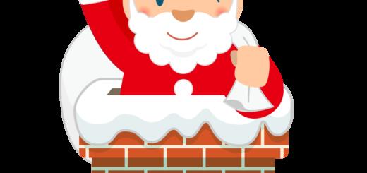 商用フリー・無料イラスト_クリスマス_サンタクロース(Santa Claus)_煙突(えんとつ)02