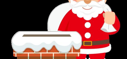 商用フリー・無料イラスト_クリスマス_サンタクロース(Santa Claus)_煙突(えんとつ)03