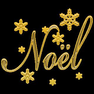 商用フリー・無料イラスト_クリスマス_ノエル(noel)文字_雪