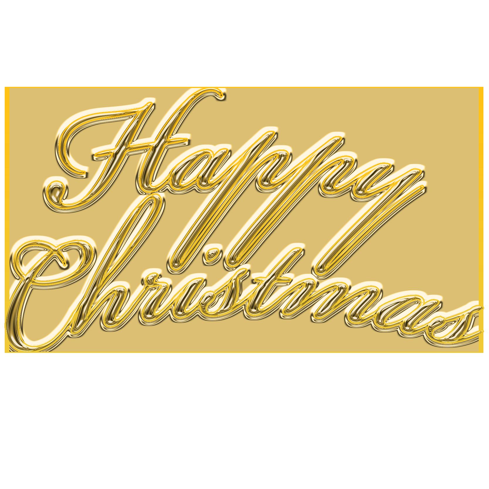 商用フリー・無料イラスト_クリスマス_HappyChristmas文字