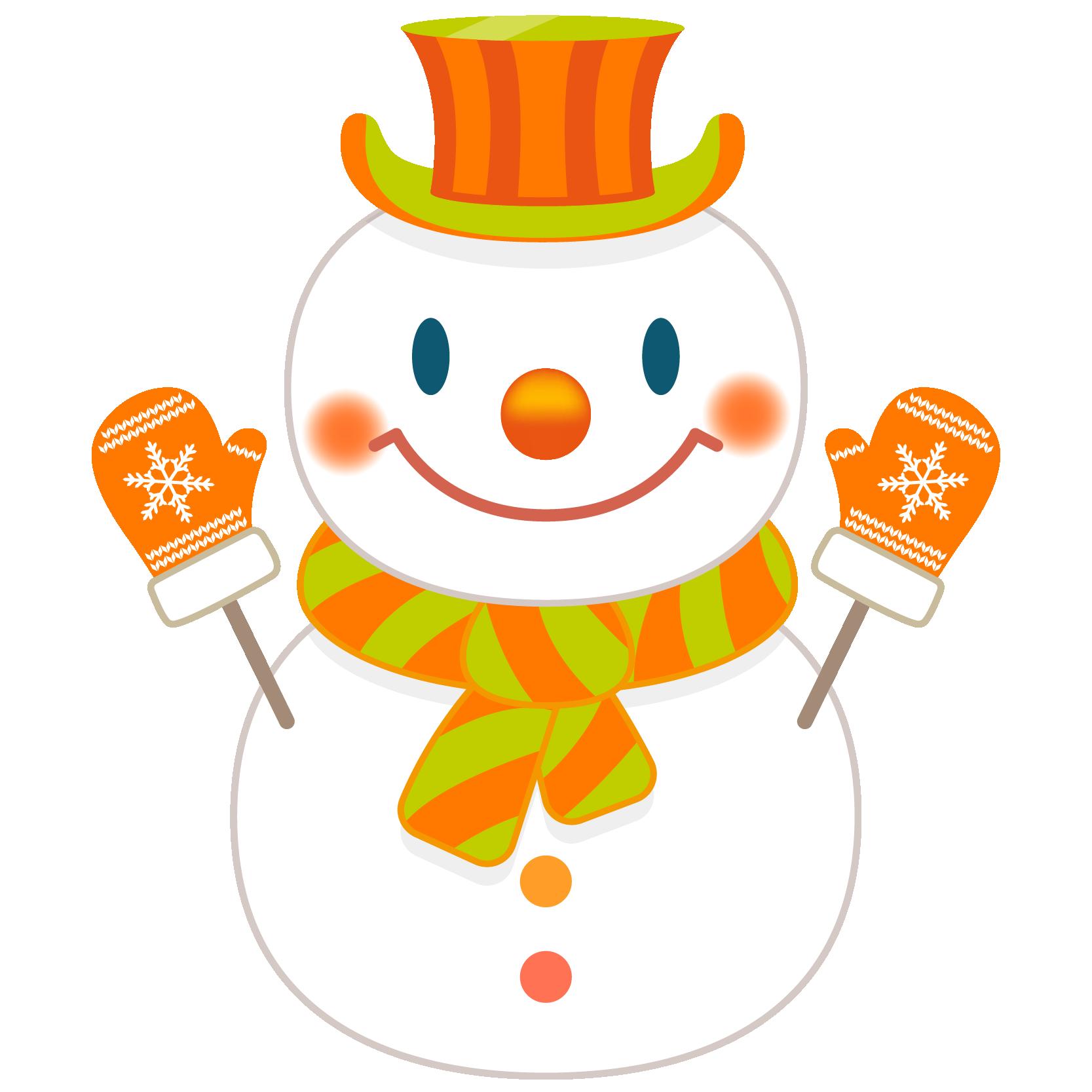 商用フリー・無料イラスト_クリスマス_スノーマン(雪だるま)_snowman_001