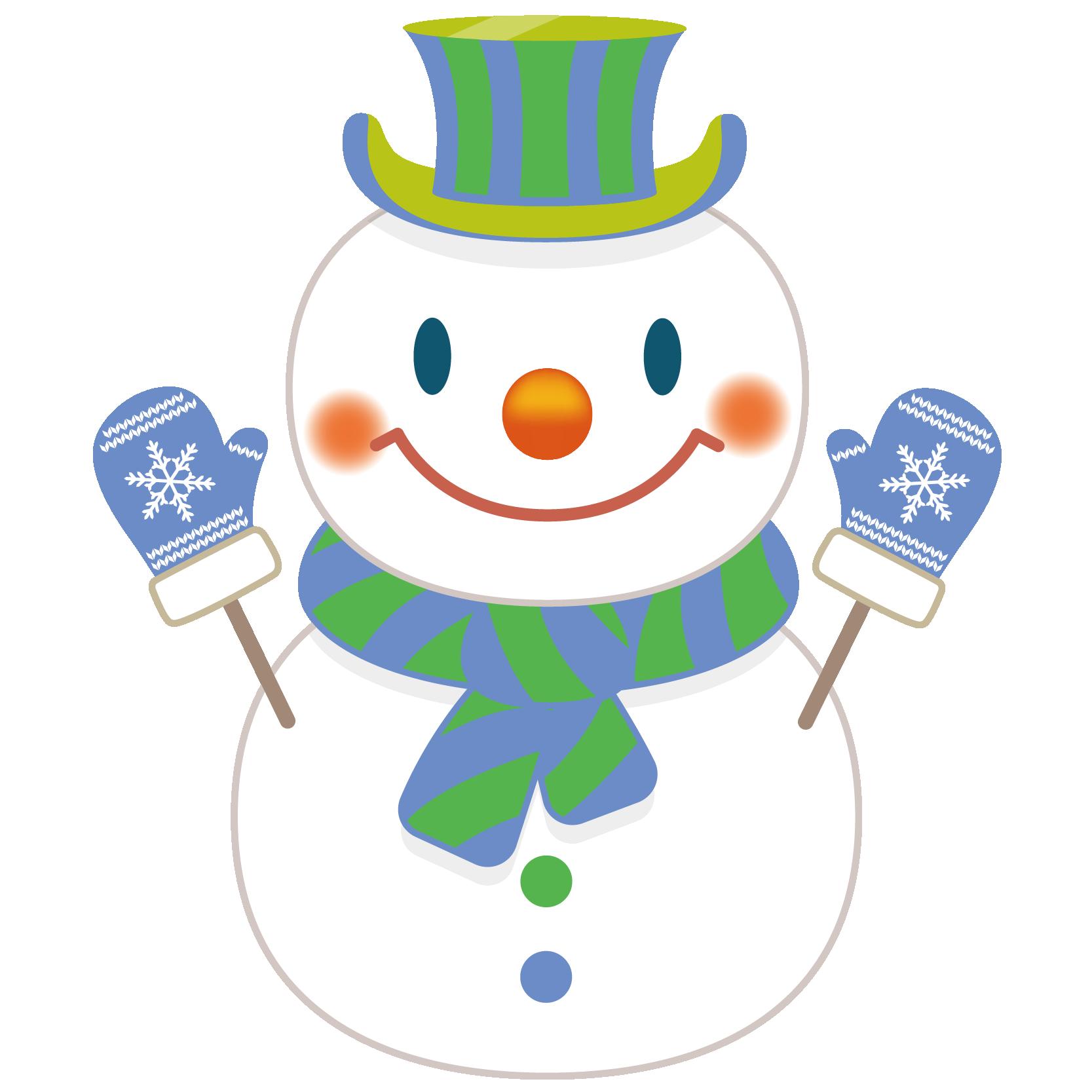 商用フリー・無料イラスト_クリスマス_スノーマン(雪だるま)_snowman_002
