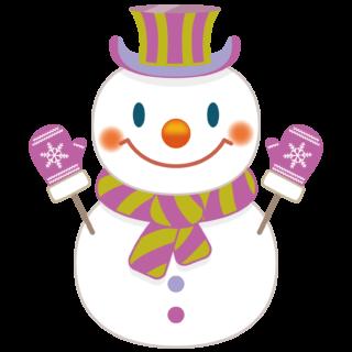 商用フリー・無料イラスト_クリスマス_スノーマン(雪だるま)_snowman_003