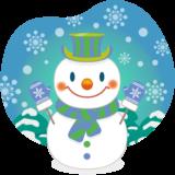 商用フリー・無料イラスト_クリスマス_スノーマン(雪だるま_雪背景)_snowman_006
