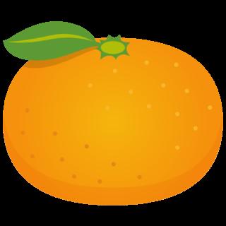 商用フリー・無料イラスト_みかん(Mandarin orange)01