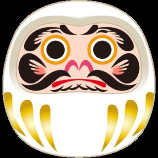 商用フリー・無料イラスト_縁起物_だるま・達磨(白)_002