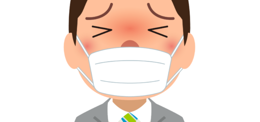商用フリー・無料イラスト_杉(すぎ)花粉症_男性_マスク_cedar pollen allergy_kafun005