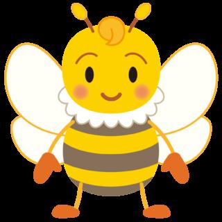 商用フリー・無料イラスト_みつばち(蜂)_Honeybee001