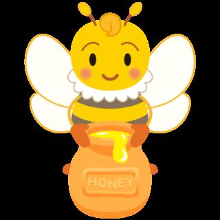 商用フリー・無料イラスト_みつばち(蜂)_はちみつ_Honeybee002