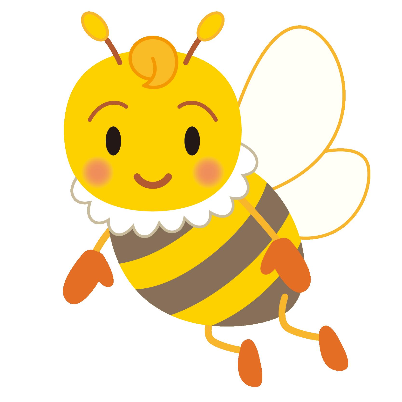 商用フリー・無料イラスト_みつばち(蜂)_Honeybee003