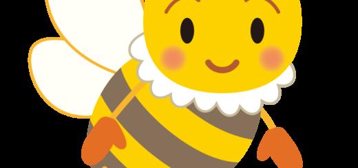 商用フリー・無料イラスト_みつばち(蜂)_Honeybee004