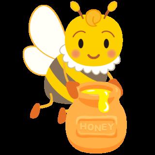 商用フリー・無料イラスト_みつばち(蜂)_はちみつ_Honeybee005