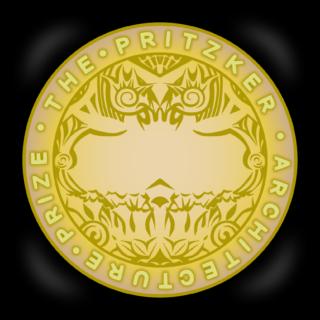 商用フリー無料イラスト_プリツカー賞_メダル_黒ケース_The Pritzker Architecture Prize_003