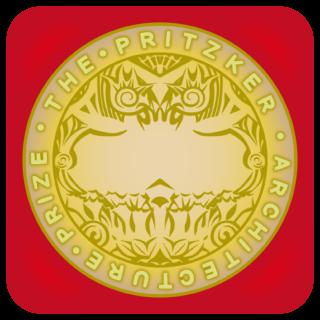 商用フリー無料イラスト_プリツカー賞_メダル_赤ケース_The Pritzker Architecture Prize_004