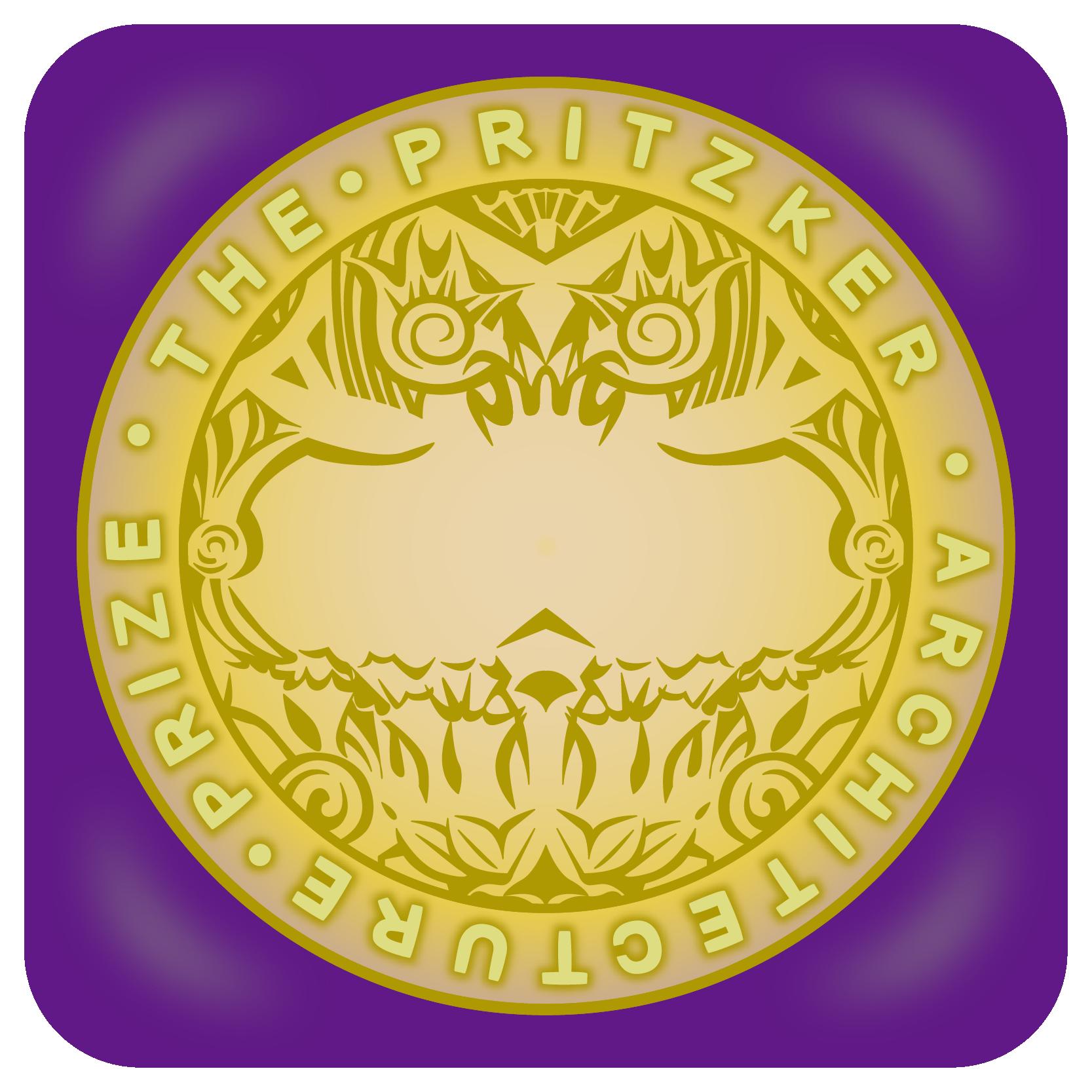 商用フリー無料イラスト_プリツカー賞_メダル_紫ケース_The Pritzker Architecture Prize_005