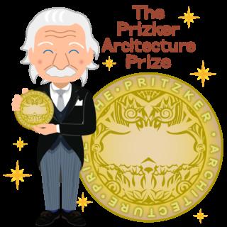 商用フリー無料イラスト_プリツカー賞_表彰_燕尾服_男性_外国人_メダル大_The Pritzker Architecture Prize_017