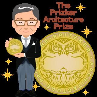 商用フリー無料イラスト_プリツカー賞_表彰_燕尾服_男性B_メダル大_The Pritzker Architecture Prize_019