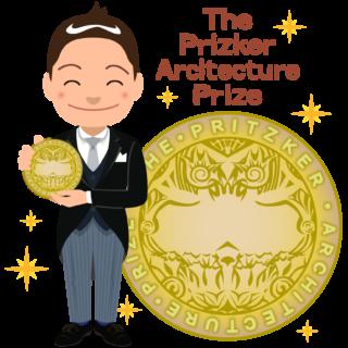 商用フリー無料イラスト_プリツカー賞_表彰_燕尾服_男性C__メダル大_The Pritzker Architecture Prize_021