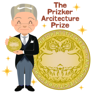 商用フリー無料イラスト_プリツカー賞_表彰_燕尾服_男性D_笑顔_The Pritzker Architecture Prize_023