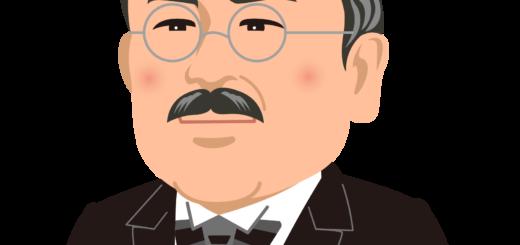 商用フリー・無料イラスト_北里柴三郎_Shibasaburo Kitazato01