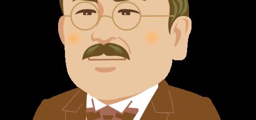 商用フリー・無料イラスト_北里柴三郎_セピア_Shibasaburo Kitazato01