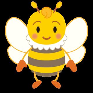 商用フリー・無料イラスト_みつばち(蜂)_Honeybee006