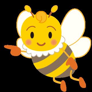商用フリー・無料イラスト_指差しみつばち(蜂)_Honeybee008