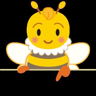 商用フリー・無料イラスト_指差しみつばち(蜂)_Honeybee009