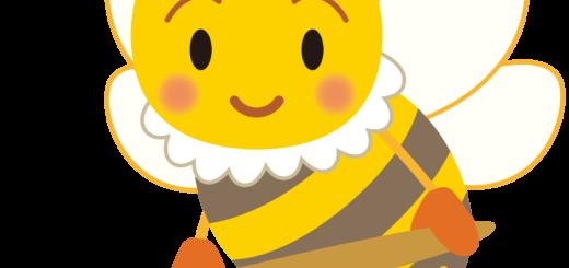 商用フリー・無料イラスト_みつばち(蜂)_はちみつ_Honeybee010