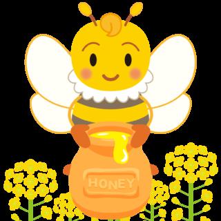 商用フリー・無料イラスト_みつばち(蜂)_はちみつ_菜の花_Honeybee014