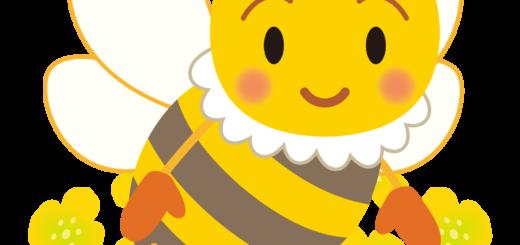 商用フリー・無料イラスト_みつばち(蜂)_菜の花_Honeybee016