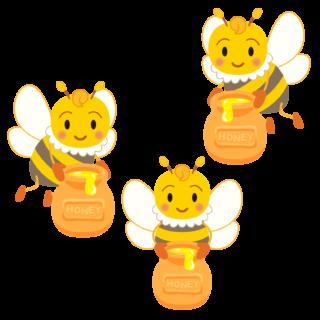 商用フリー・無料イラスト_みつばち(蜂)_はちみつ_Honeybee017